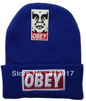 Free shipping Cheap OBEY hat hip hop BBOY winter wool hat knitted hat men and women NY baseball cap winter hat hiphop 10PCS/pack