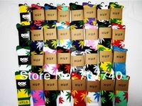 2014 hottest 6pcs HUF plantlife socks cheap streetwear men women yoga cotton bike stockings skateboard sport running socks