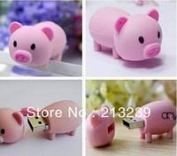 Drop/Free shipping New cartoon Pink Pig Usb 2.0 memory flash stick pen thumbdrive/gift for chirstmas