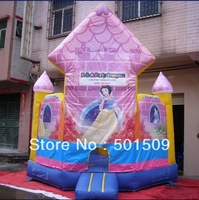 4mx4m Inflatable Bouncer snow white princess girls fairy tale inflatable castle childrens/kids play, not include electric blower