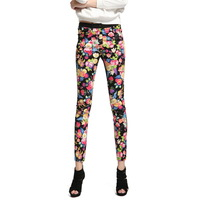 Autumn Leggings 2013 women's ankle length legging trousers slim print flowers pencil pants vq695-1  creative Apparel