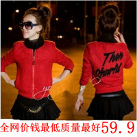Woolen outerwear female 2013 autumn and winter outerwear short design jacket slim cashmere overcoat