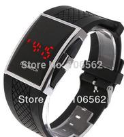 fashion men dress watch Free shipping Best Gift Men's Luxury Date Digital Sport Led Watch With Red Light
