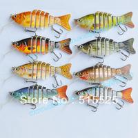 Free shipping 6pcs/lot swim bait  lure of fishing deep water lure crank bait with bib