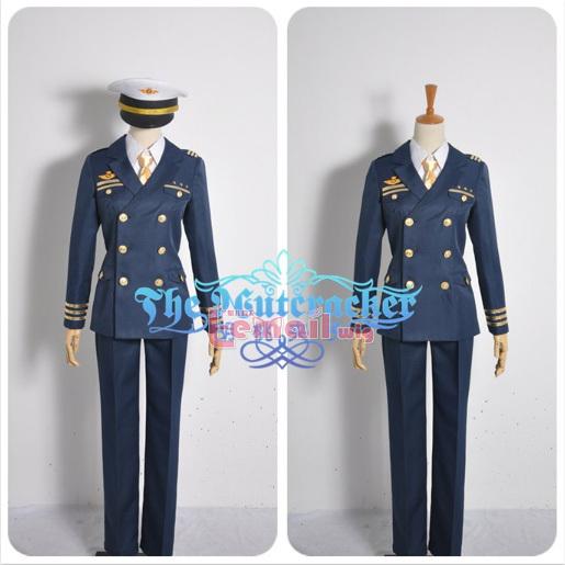 2013 NEW Japanese anime game accessories UTA NO PRINCE SAMA Shining Airlines copilot cosplay costumes CC171(China (Mainland))