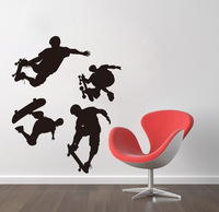 Skater boy,sport boy,black color,50*70CM,middle size,home decor wall sticker