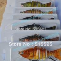 2014 New Free shipping 6pcs/lot swim bait  fishing lure deep water lure crank bait with bib