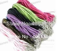 - 200 Pcs/lot Mixed Colour Soft Velvet Cord Necklaces