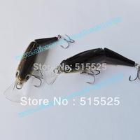 2pcs/lot swim bait  lure of fishing deep water lure crank bait 2 section lure