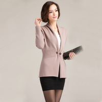 2013 female wool cardigan basic cashmere sweater shirt medium-long short design sweater