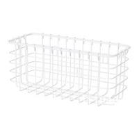 1 piece white color steel powder coating bathroom shelves, basket.
