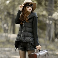 Winter a loose elegant plus size down cotton-padded jacket medium-long female hooded wadded jacket cotton-padded jacket