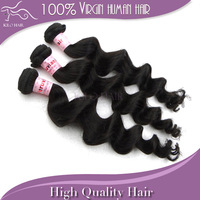 100% Unprocessed virgin peruvian hair loose wave human hair weave extension weft mix length 3pcs lot DHL free shipping 1b 300g