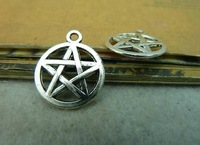 Min.order is$8(mix order) 50pcs 17*20mm Vintage Star charms Antique silver pendat,Connector finding FreeShipping c4085