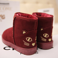 Autumn and winter all-match boots snow boots flat heel boots duomaomao women's shoes flat tube winter boots