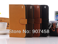 Free Shipping Hot Sales Fashion Retro Flip Case With Support PU Wallet Case For Samsung I9152 Galaxy Mega 5.8