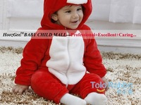 Free Shipping Baby Clothing Animal Modeling Romper Zipper Hooded Crawling Clothes Spring & Autumn