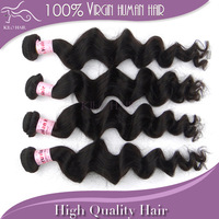Virgin peruvian loose wave hair 100% Unprocessed Grade 5A human hair weave extension weft free shipping on sale 4pcs lot