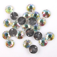 750pcs/lotAB Resin Faceted Round Sew-on Flatback Buttons Beads Charms Fit Handcraft 8*3mm  Free Shipping 241124