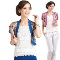 13 women's new arrival summer lace cutout shrug short cape air conditioning shirt cape short-sleeve sun protection clothing