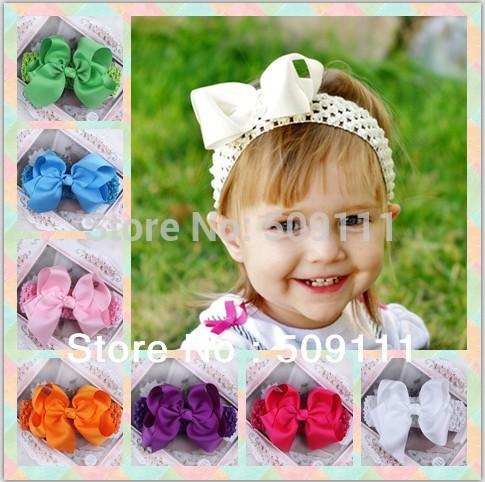 Baby girls Hair Bow Hair clip Infant Toddler Headband Baby Hair Accessories Headbands Bow 24pcs HB175(China (Mainland))