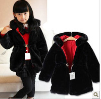 girl winter coat wadded jacket outerwear coat thickening thermal princess overcoat