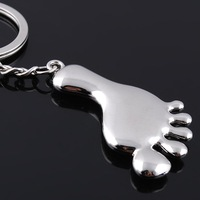 Free shipping Connaught Promotional Keychain Glossy Little Feet Keychains Creative Product Zinc Alloy Key Ring GX-020