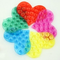 10pcs/lot New Strong Double Sided Suction Palm PVC Suction Cup, Double Magic Plastic Sucker Bathroom Free Shipping