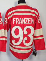 cheap Detroit Red Wings 2014 Winter Classic # 93 FRANZEN red jersey men's ice hockey jerseys china cheap, embroidery logo.