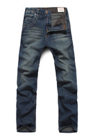 Trousers 2013 straight vintage wash water wearing white Men jeans trousers