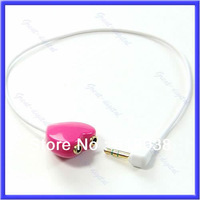 B39Free Shipping 3.5mm Extension Earphone Headphone Male to 2 Female Audio Splitter Cable Adapter