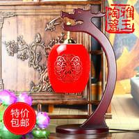 Chinese style vintage jingdezhen ceramic lamps rack wedding gift ofhead modern lighting