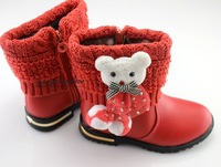 2013 autumn and winter female child boots child boots child single boots female cotton-padded shoes child cotton boots children