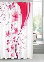 Bathroom products Pink love Flowers bathroom shower curtain terylene bath curtain 180x180cm ,screen shower,curtain bath