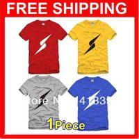 Multi-color Male & Female Scamper Lightning Blue Devils Team Parkour Personality Cotton Short-sleeved T-shirt