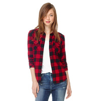 Winter Style Women's High Quality Long Sleeve Check/Plaid Shirt, Casual Flannel Blouse 10792
