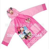 Disny micky Minni students raincoat children raincoat rainwear poncho free shipping