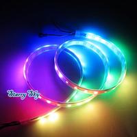 1M 60 Leds Magic Dream Color 5050 RGB LED Strip WS2812B WS2811 Built  Individual Addressable Flexible waterproof tube 5V