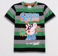 NEW! Free shipping NWT 5pcs/lot 18m~6y boy stripe short sleeve embroidery george t shirt