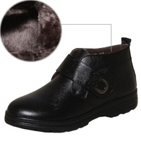 Men's winter boots cotton-padded shoes warm casual leather shoes  2013 popular male cotton leather genuine leather shoes