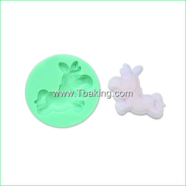 Tc Silicone bolo Mold Baking Mould barro Soap Gum Paste decoração do bolo forma cavalo(China (Mainland))