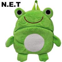 Children bag school cartoon animal backpack Baby Toddler kid's hairy Schoolbag Shoulder Bag kindergarten bag Frog