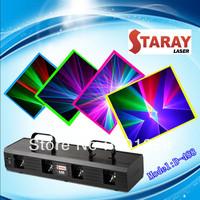 Hot selling colorful four-lens laser beam light disco light