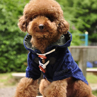 Free shipping Teddy Chihuahua Puppy Fawn Dog Cloak Coat Jacket Winter Medium Small Pet Dog Clothes S M L