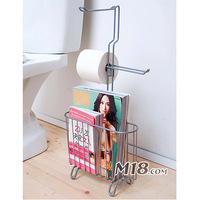 Multifunctional storage rack bumpered toilet paper magazine rack bathroom finishing rack shelf
