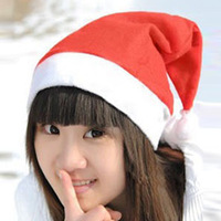 Flannelet Christmas decoration christmas hats adult cap child cap hair accessory christmas hat with free shipping