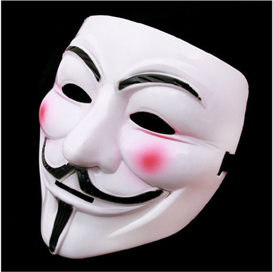 Party Masks 1pcs V for Vendetta Anonymous Guy Fawkes Mask Halloween Cosplay Free shipping(China (Mainland))