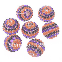 Free Shipping.22MM Halloween Festival Color Resin Rhinestone Beads 100pcs/lot
