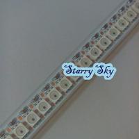 1M 144 Pixel 5050 RGB SMD WS2811 IC LED Strip Flash  Light tube Waterproof Individually Addressable  DC5V free shipping