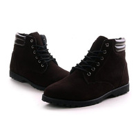 Men's Shoes Ankle-high Martin-boots For Winter Free Two Styles 2013 New Arrival Shipping Whole Sale XMB026